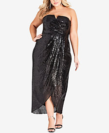 City Chic Plus Size Siren Strapless Dress