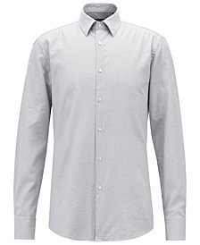 BOSS Men's Slim-Fit Structured Cotton Shirt