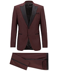 BOSS Men's Slim-Fit Silk-Trim Virgin Wool Tuxedo
