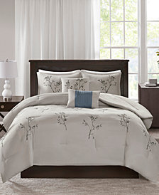 510 Design Katia 5-Pc. Embroidered Floral Comforter Set Collection