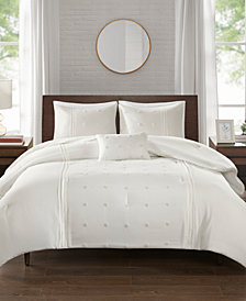 510 Design Natalee 4-Pc. Dot Embroidered Comforter Set Collection