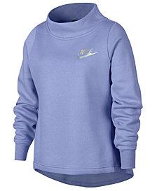 Nike Big Girls Sportswear Fleece Pleated-Back Sweatshirt