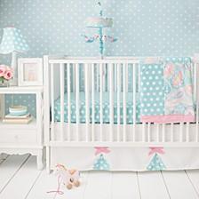 Pixie Baby in Aqua 3pc Set (sheet, skirt, blanket)