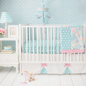 Pixie Baby in Aqua 3pc Set (sheet, skirt, blanket) Bedding