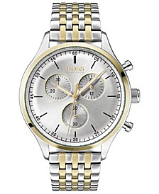 Hugo Boss Men's Chronograph Companion Two-Tone Stainless Steel Bracelet Watch 42mm