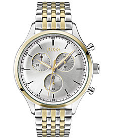 BOSS Hugo Boss Men's Chronograph Companion Two-Tone Stainless Steel Bracelet Watch 42mm