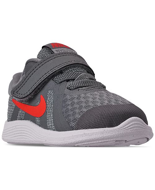 half off 048bf 67a17 ... Nike Toddler Boys  Revolution 4 Athletic Sneakers from Finish ...