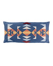"""Trail Embroidered 14"""" X 30"""" Oblong Pillow"""