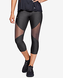 Under Armour HeatGear® Mesh-Trimmed Capri Leggings