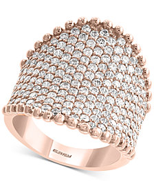 EFFY® Diamond Pavé Statement Ring (2-1/2 ct. t.w.) in 14k Rose Gold