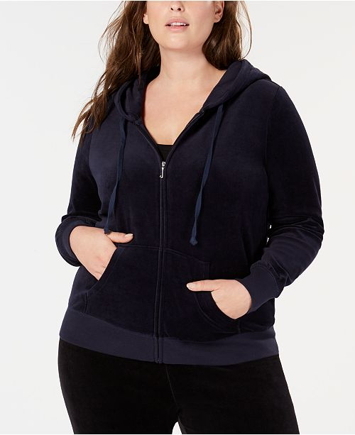 Juicy Couture Trendy Plus Size Robertson Velour Hoodie