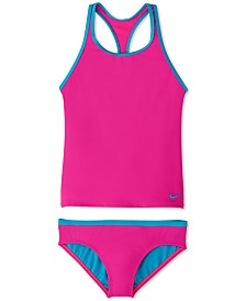 Nike Big Girls 2-Pc. Racerback Tankini