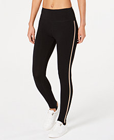 Calvin Klein Performance High-Waist Metallic-Stripe Leggings