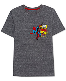 Marvel Big Boys Spiderman Boom Graphic T-Shirt