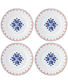 Dansk Northern Indigo Accent Plates, Set of 4