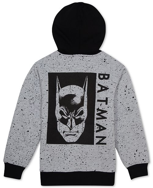 DC Comics Big Boys Batman Sherpa Fleece Hoodie