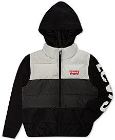 Levi's® Big Boys Colorblocked Hooded Logo Vest