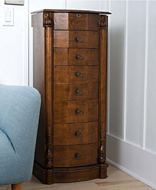 Antoinette Jewelry Armoire, Walnut