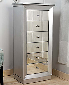 Mia Leaf and Mirror Jewelry Armoire