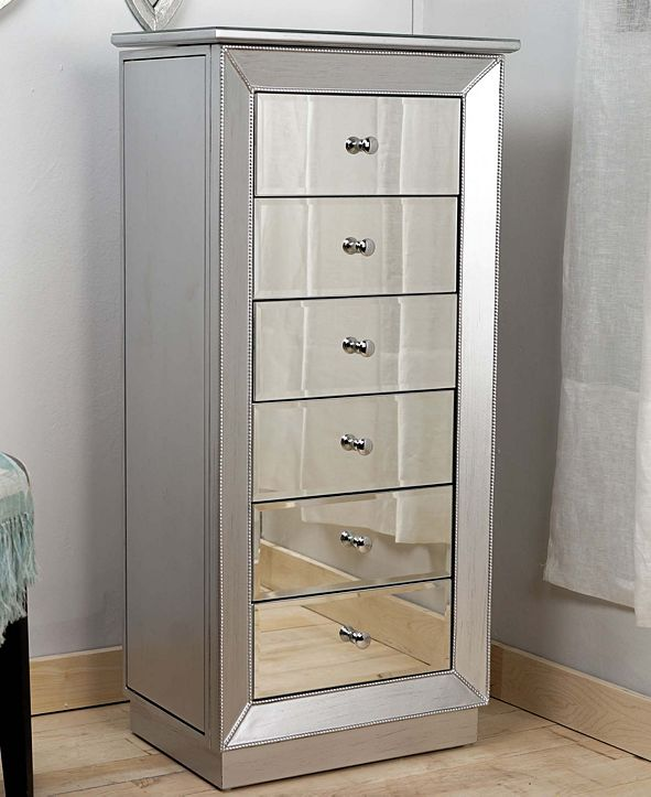 Hives & Honey Mia Leaf and Mirror Jewelry Armoire