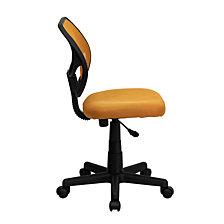 Mid-Back Orange Mesh Swivel Task Chair