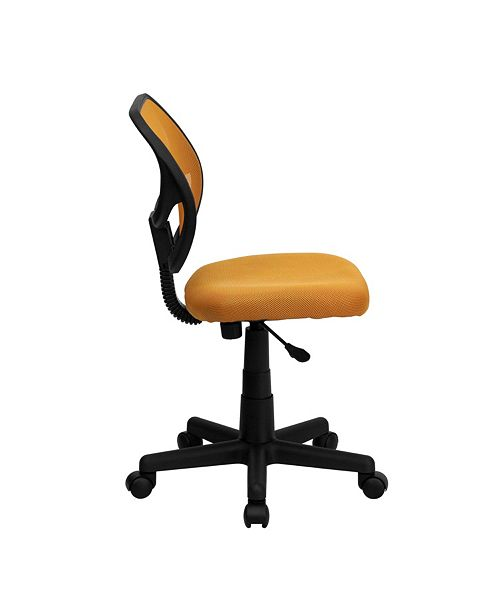 Flash Furniture Mid-Back Orange Mesh Swivel Task Chair