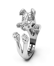 American Staffordshire Hug Ring in Sterling Silver