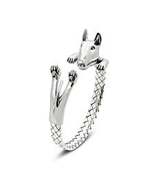 Bull Terrier Hug Bracelet in Sterling Silver