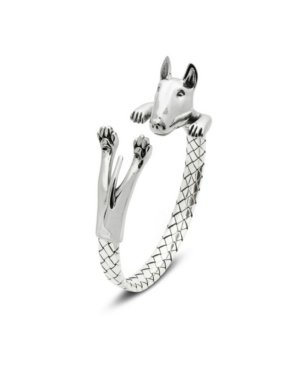 Bull Terrier Hug Bracelet in Sterling Silver -  Dog Fever