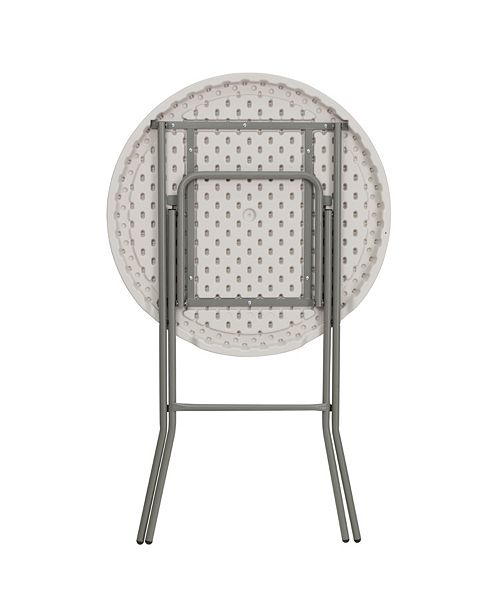 Pleasant 32 Round Granite White Plastic Bar Height Folding Table Onthecornerstone Fun Painted Chair Ideas Images Onthecornerstoneorg