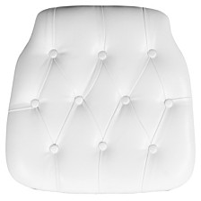 Hard White Tufted Vinyl Chiavari Chair Cushion