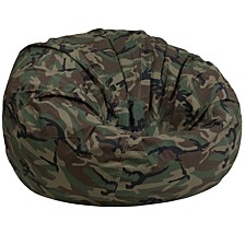 Oversized Camouflage Kids Bean Bag Chair