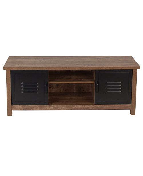 Pleasant New Lancaster Collection Crosscut Oak Wood Grain Finish Storage Bench With Metal Cabinet Doors Short Links Chair Design For Home Short Linksinfo