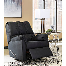Signature Design By Ashley Darcy Rocker Recliner In Black Microfiber