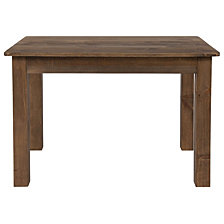 "46"" X 30"" Rectangular Antique Rustic Solid Pine Farm Dining Table"