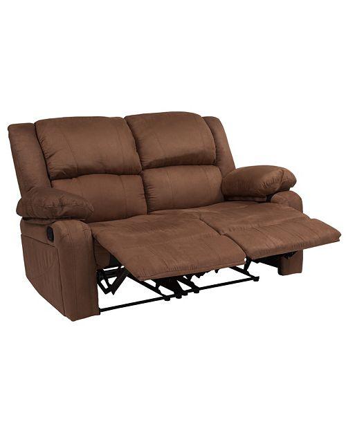 Flash Furniture Harmony Series Chocolate Brown Microfiber