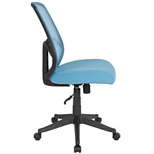 Salerno Series High Back Light Blue Mesh Chair