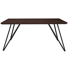 "Corinth 31.5"" X 63"" Rectangular Dining Table In Dark Ash Finish"