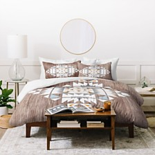 Deny Designs Iveta Abolina Cream Tribal Queen Duvet Set