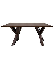 """Ridgefield Coffee Table with 1"""" Thick Solid Walnut Wood Top"""