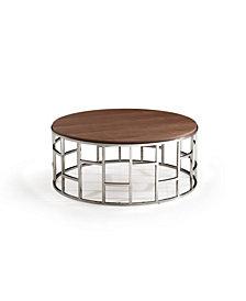 Modrest Silvia Modern Steel Coffee Table