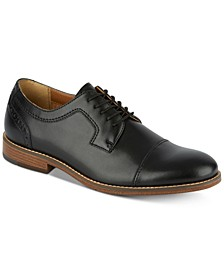 Men's Rhodes Leather Cap-Toe Oxfords
