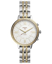 Fossil Q Women's Jacqueline Two-Tone Stainless Steel Bracelet Hybrid Smart Watch 36mm