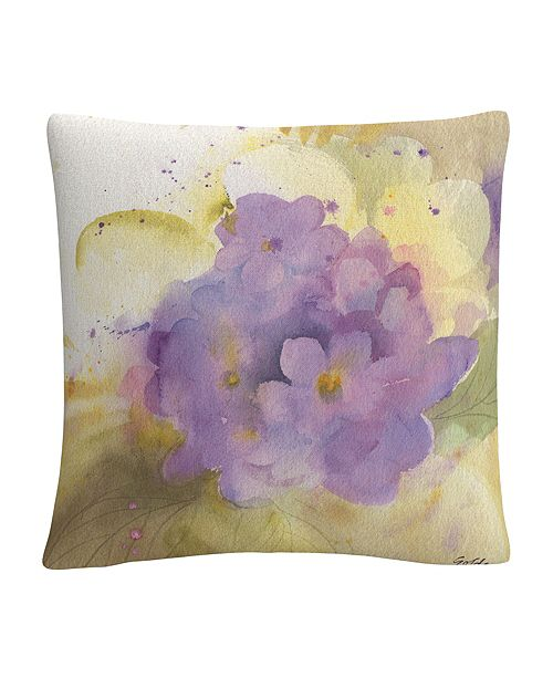 "Baldwin Violets Soft Floral Motif 16x16"" Decorative Throw Pillow by Sheila Golden"