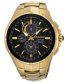 Men's Solar Chronograph Coutura Gold-Tone Stainless Steel Bracelet Watch 44mm