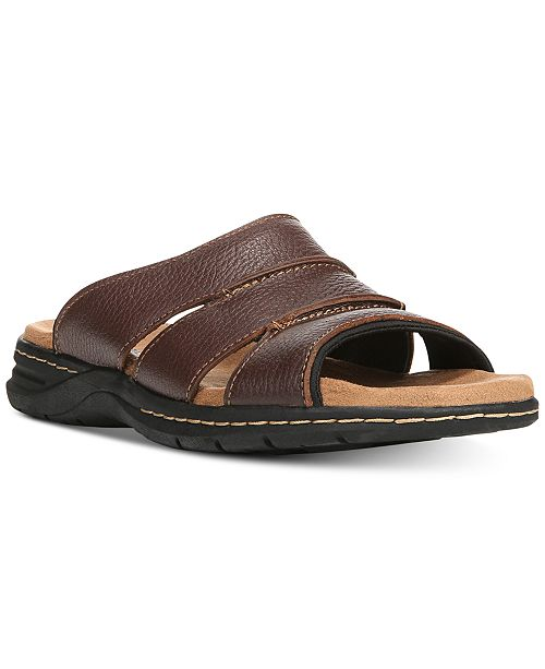 842920c5f00 Dr. Scholl's Men's Gordon Leather Slides & Reviews - All Men's Shoes ...