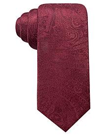 Ryan Seacrest Distinction™ Men's Dover Paisley Slim Silk Tie, Created for Macy's