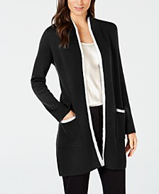 Petite Eyelash-Trim Cardigan, Created for Macy's