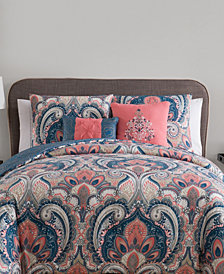 VCNY Home Casa Re`al Reversible 3-Pc. Full/Queen Duvet Cover Set