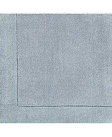 "Surya Mystique M-305 Medium Gray 18"" Square Swatch"